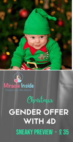 CHRISTMAS  GENDER SCAN OFFER WITH 4D SNEAKY PREVIEW -  £ 35   !!!!